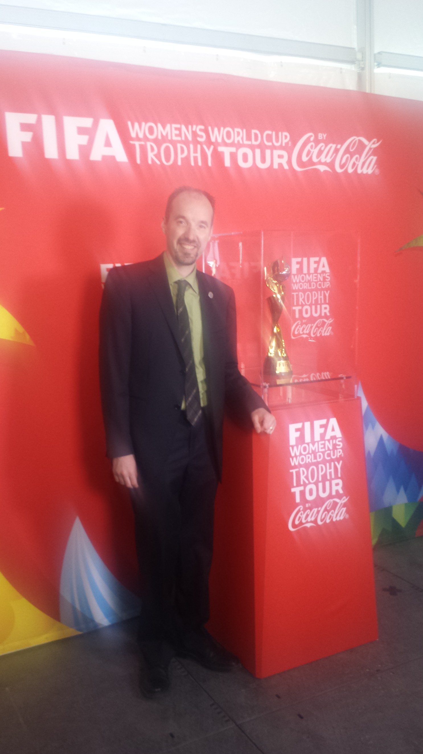 Snapped a picture with the FIFA Women's World Cup when it came through Kingston - April 28