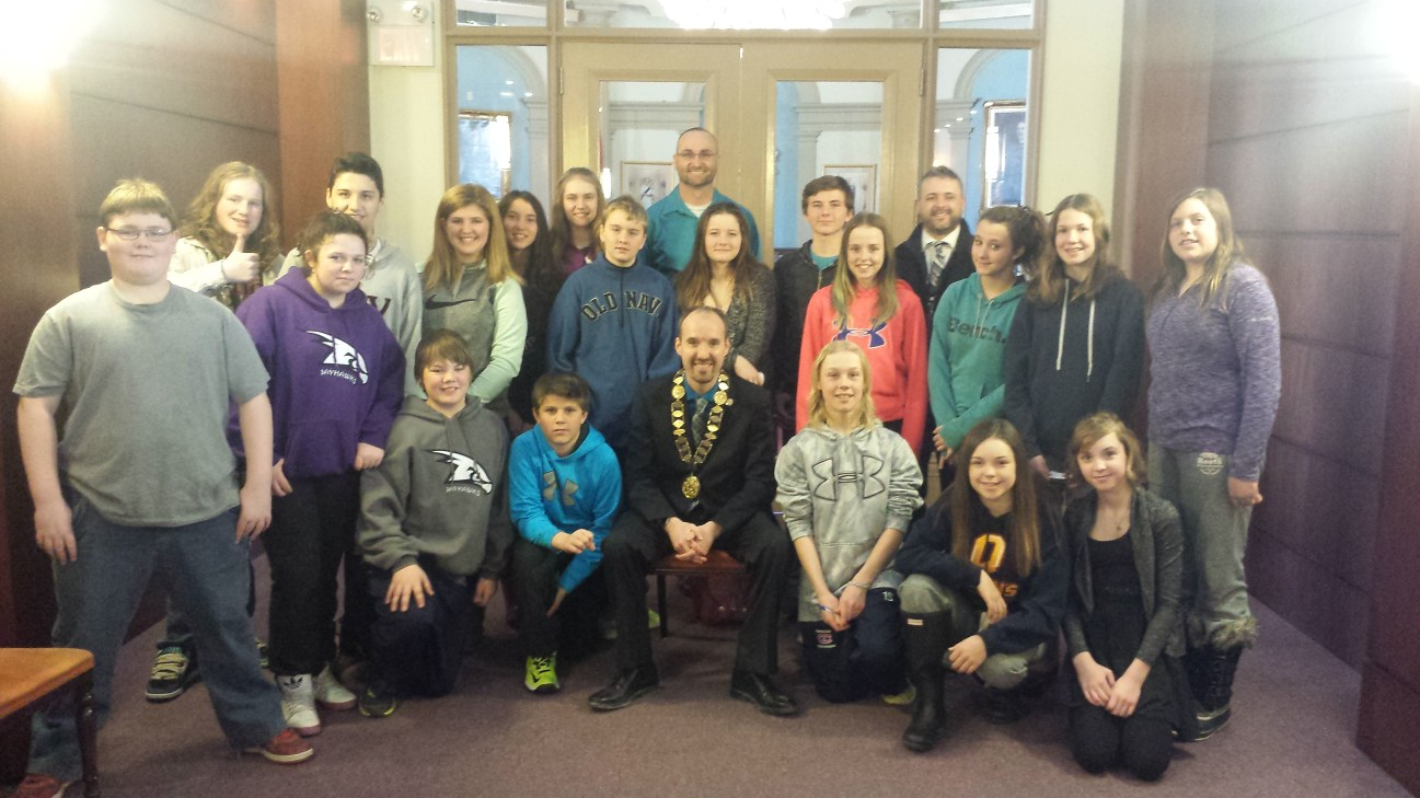 Joined by students from Joyceville Public who are learning about local government - March 12