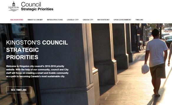 screenshot of council priorities site