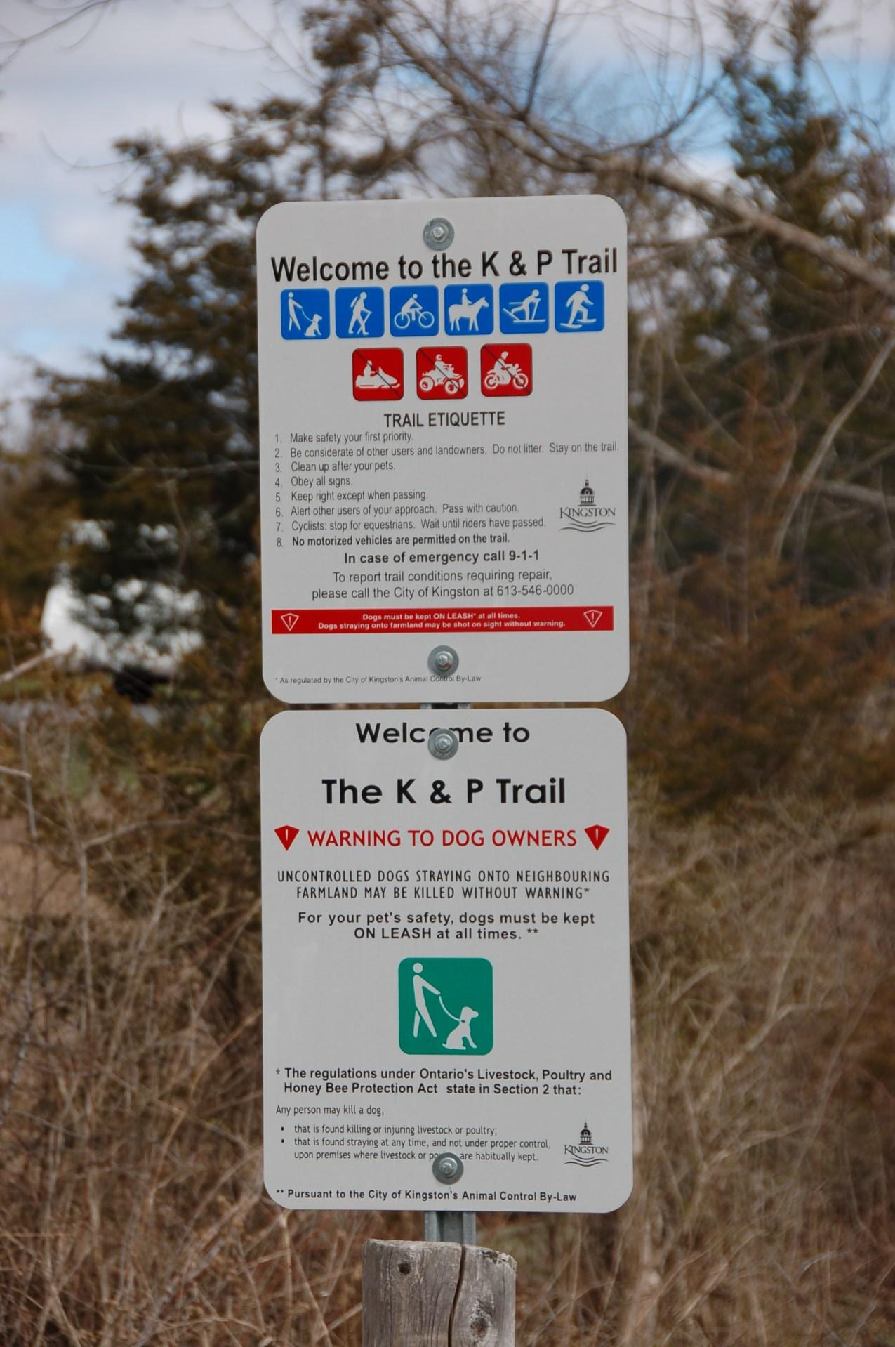 K&P Trail - signage