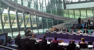 Boris Johnson answer questions from the London Assembly. Photo: MayorWatch