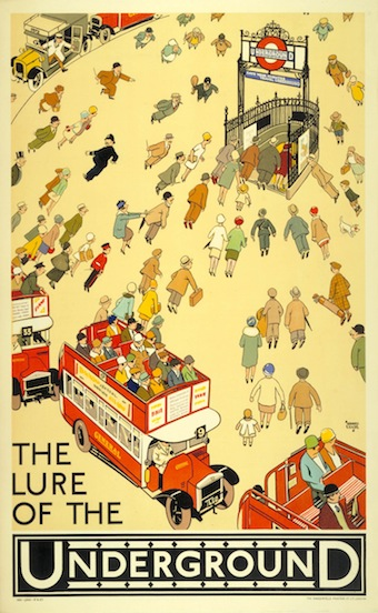 The lure of the Underground, by Alfred Leete, 1927. Image: London Transport Museum.