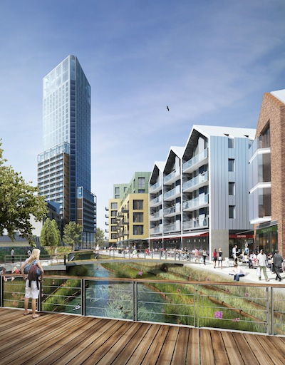 An artist's impression of the redeveloped site.