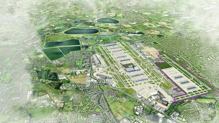 An artist's impression  of the proposed third runway at Heathrow. Image: Heathrow Airports Limited
