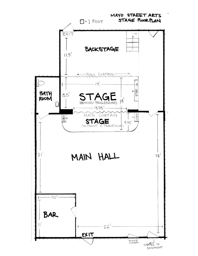 Stage & Main Hall Floorplan 2017