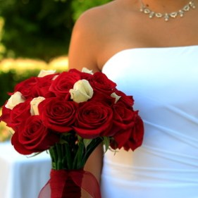 bouquet of flowers and bride