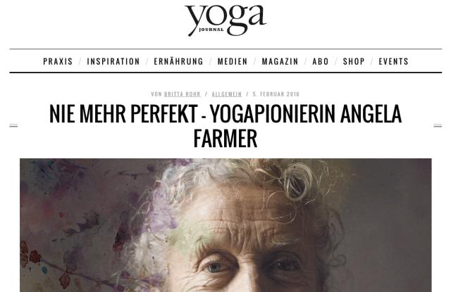 yogajournal.de NIE MEHR PERFEKT – YOGAPIONIERIN ANGELA FARMER