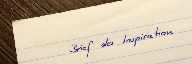Brief der Inspiration