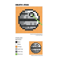 Death Star Perler Bead Coaster