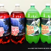 Downloadable Yoda Soda and Darth Pop Labels