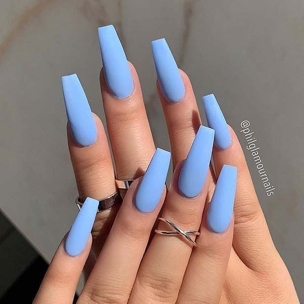Blue summer nail designs for 2021