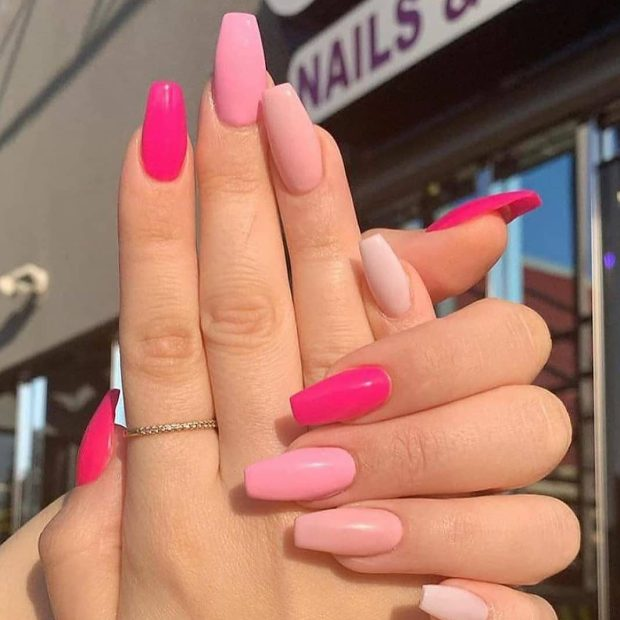pink summer nail designs for 2021