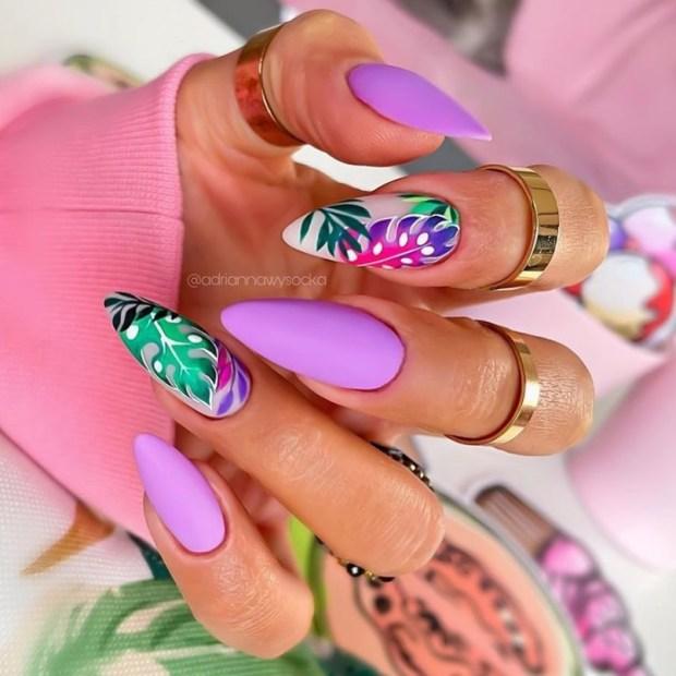 JUNGLE VIBEZ summer nail designs for 2021
