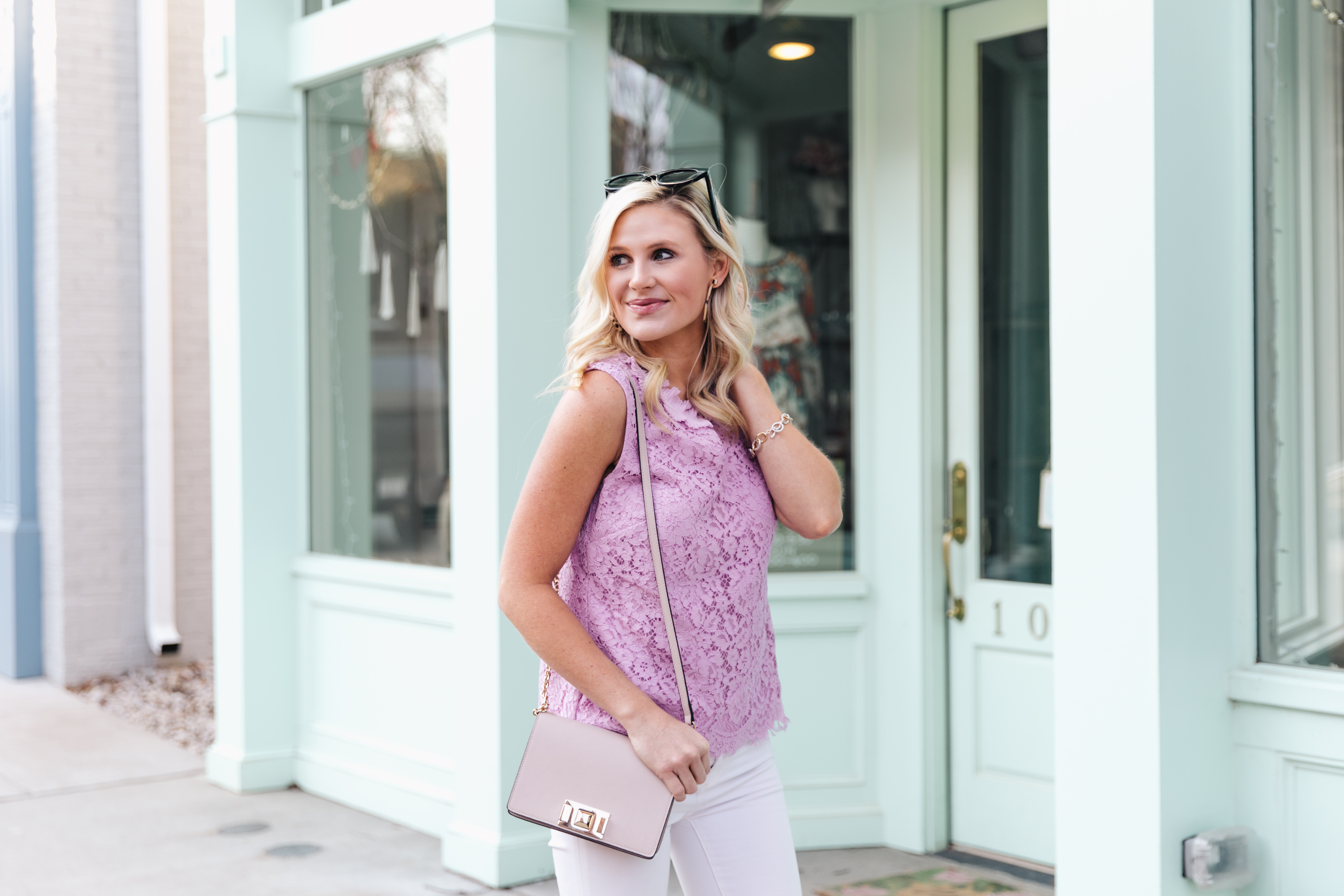 Spring work wear lace blouse