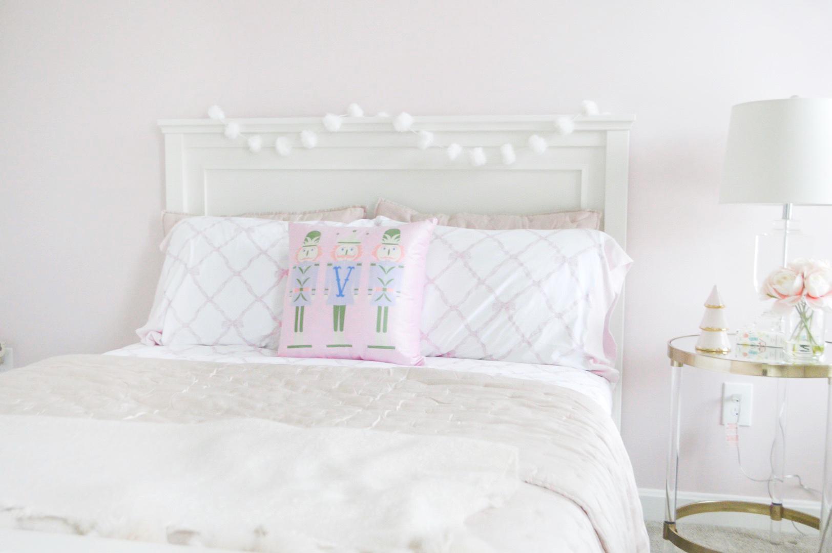 pink and white nutcracker decor