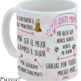 """Taza """"TE QUIERO MAMÁ"""""""