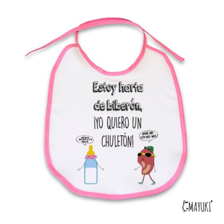 ESTOY HARTO DE BIBERÓN, YO QUIERO UN CHULETON-CHICA