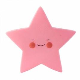 Lámpara quitamiedos estrella rosa