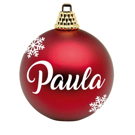 bola navidad roja mate personalizada mayuki
