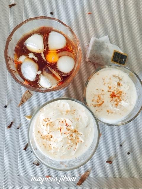 iced chai saffron frappe 1