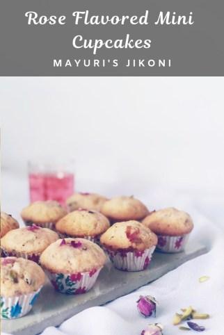 rose flavored mini cupcakes