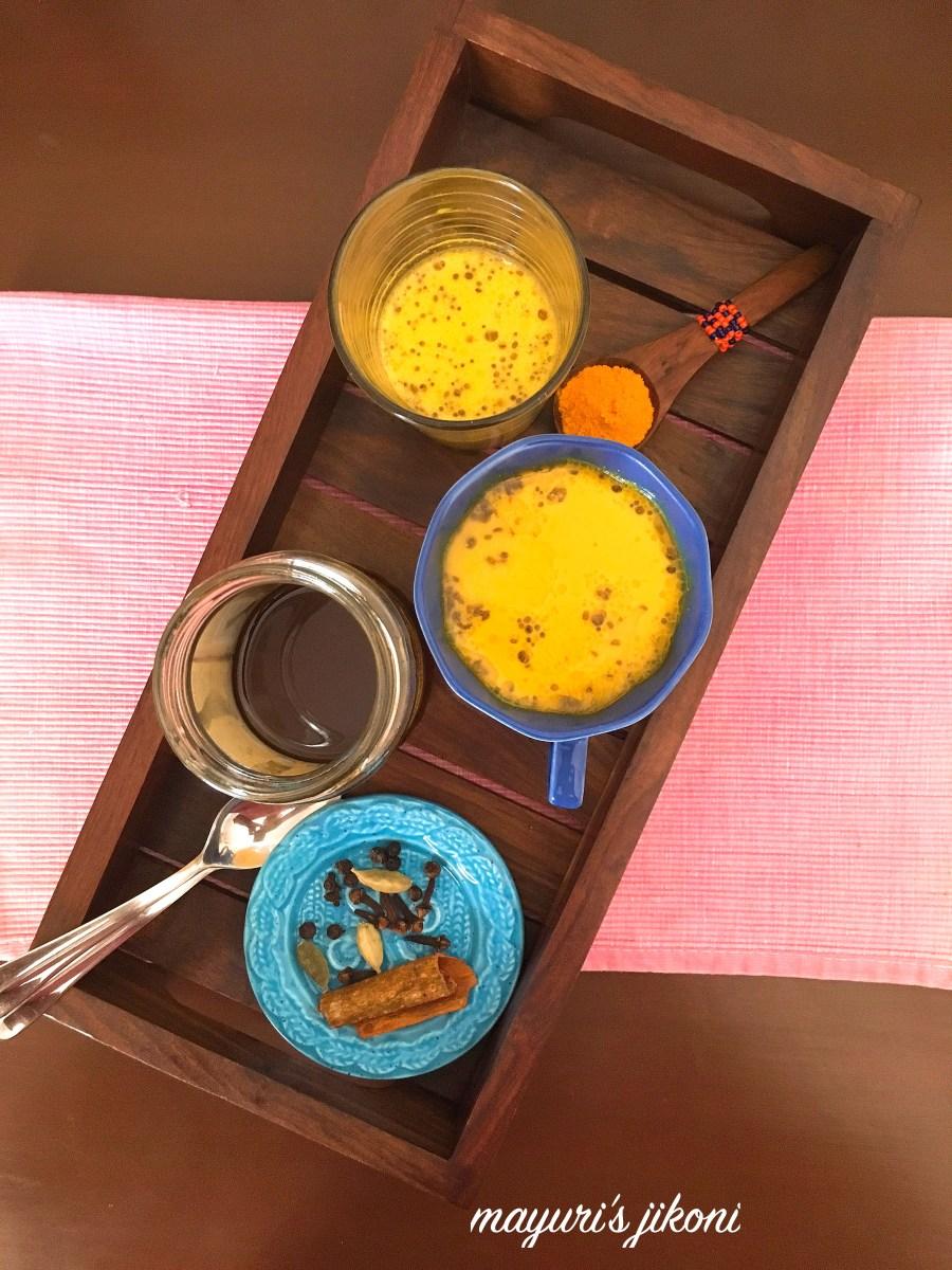 Turmeric Tea Latte/Haldi ka Doodh