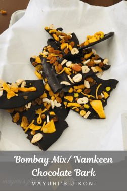 Bombay mix Chocolate bark