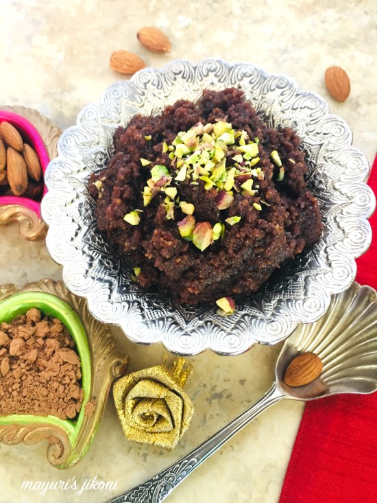 almond and chocolate halwa 8