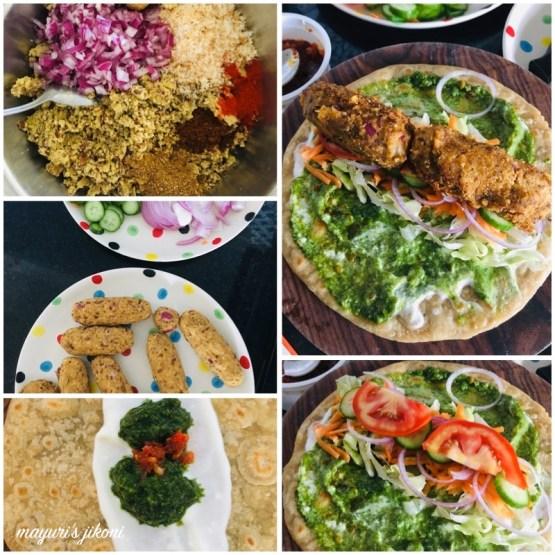 veg kebab paratha