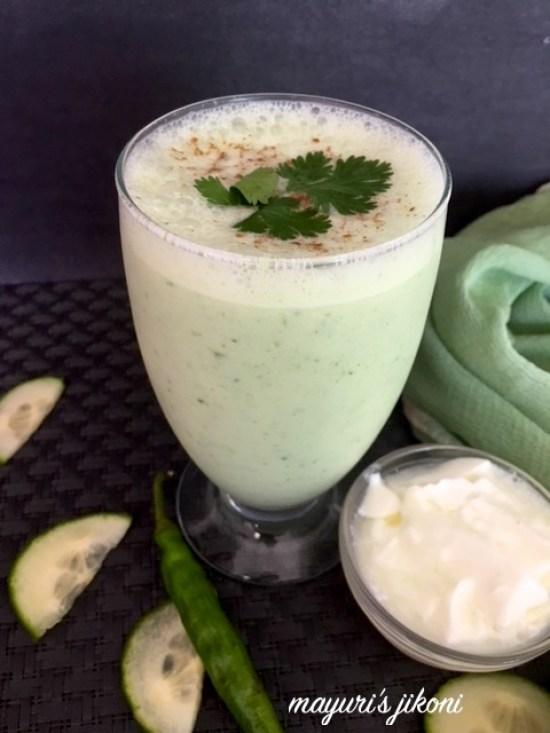 cucumber coriander chaas 3