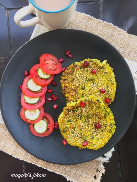 savory oat pancakes 3