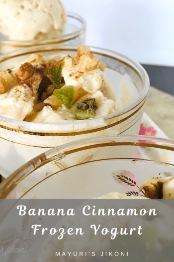 banana cinnamon frozen yogurt
