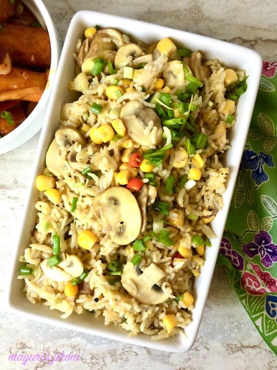 mushroom egg fried rice 1