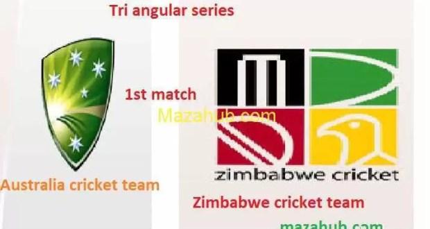 Australia vs Zimbabwe 1st Match