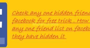 Hidden friend list facebook