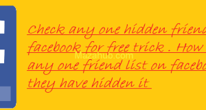 Hidden friend list facebook