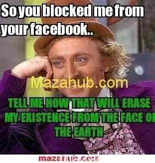 Oh my god i've been blocked