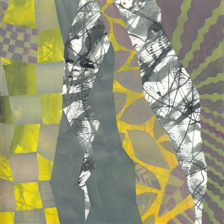 napkin #11' gouache painting by Chanan Mazal, 2014.