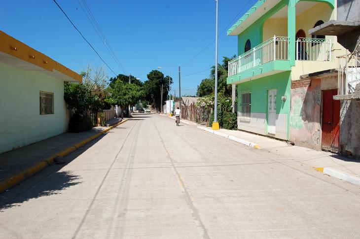 El Walamo De Villa Unin Estrena Calle Pavimentada