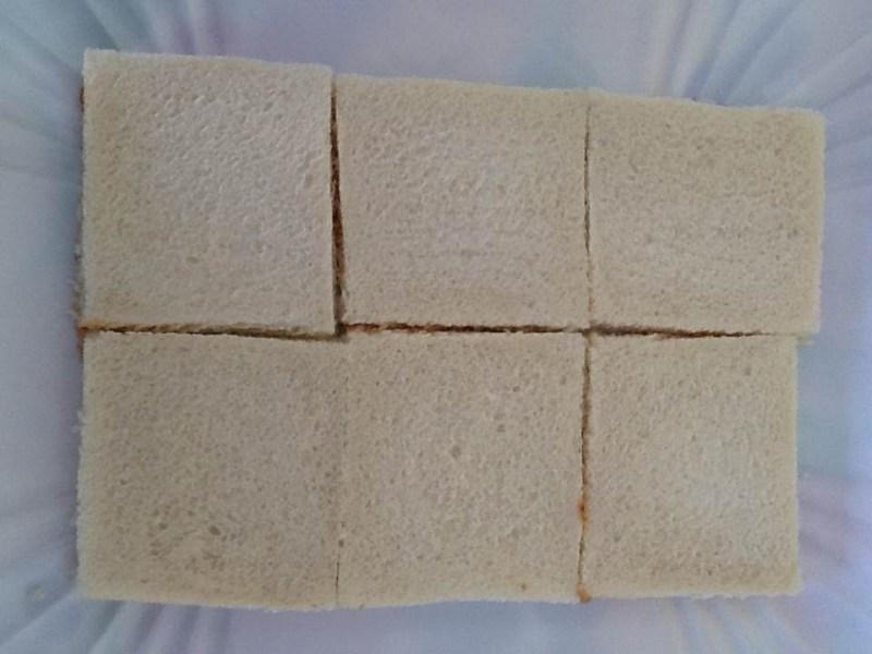 pan blanco pastel de atun