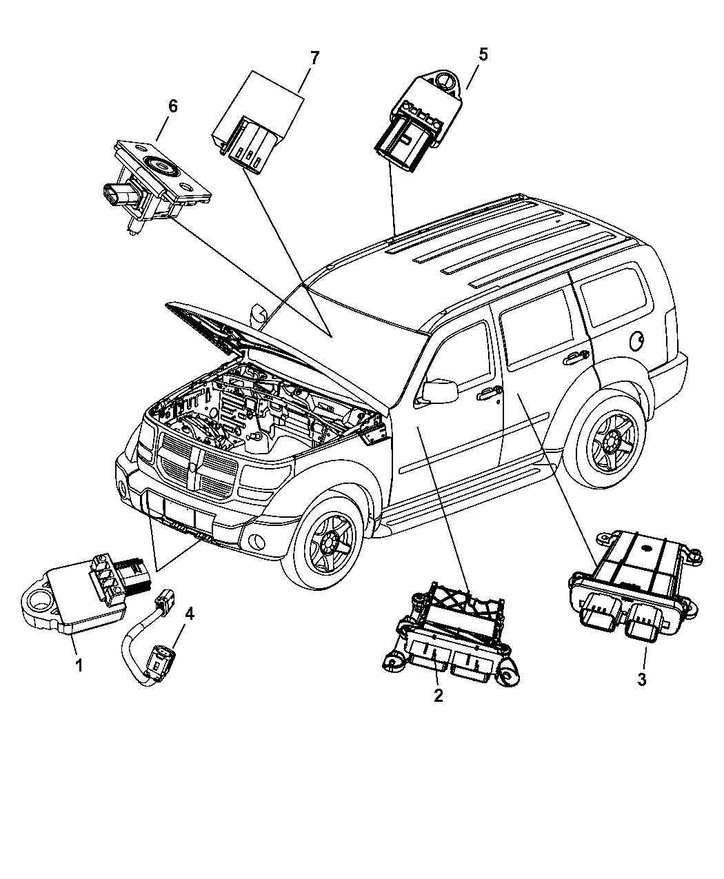 2007 Dodge Nitro Parts Manual