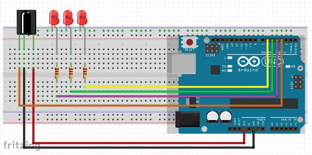 Projek Arduino  Remote Infrared  mazbeny