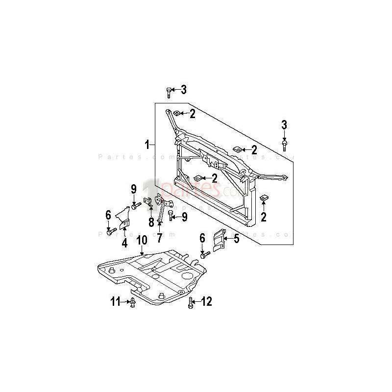 Guardapolvo central Mazda 6 GC1 GK2A56111 MA1228104 Grupo