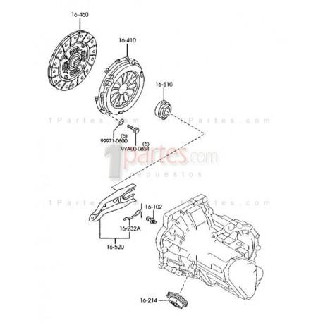 Horquilla del collarín|Ford|Laser|Mazda|323|MX-3|Protege|2