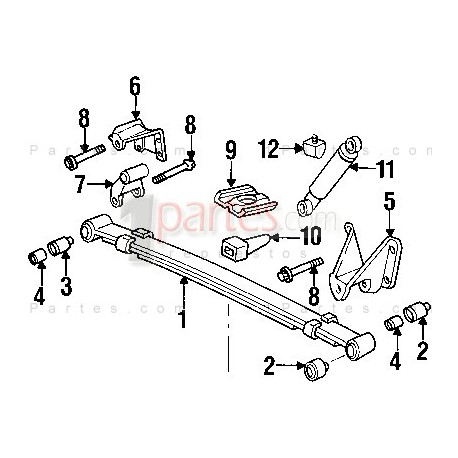 Ballestas (PAR)|Mazda|B2600||Grupo: Suspensión trasera
