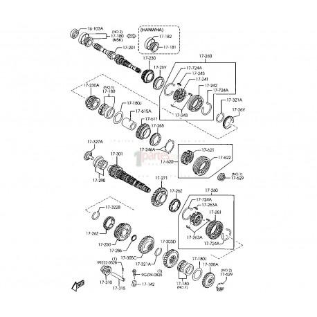 Engranaje de 1ra|Mazda|3|Axela|BK|GC0117271|GC0117271A