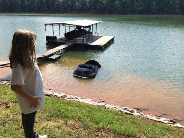 MazdaSpeed3 Rolls Into Lake, Owner Watches
