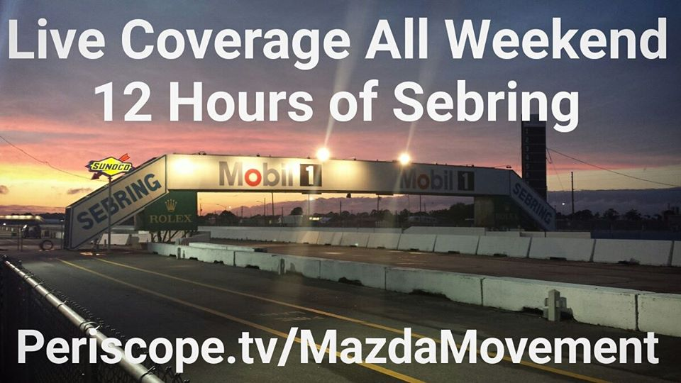 Live Stream Coverage at 12 Hours Of Sebring Starts!!