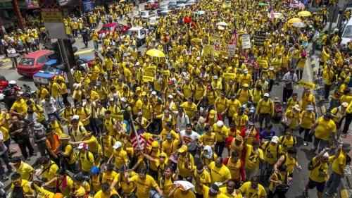 demonstran malaysia