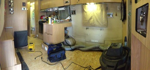 Interior gutted pano